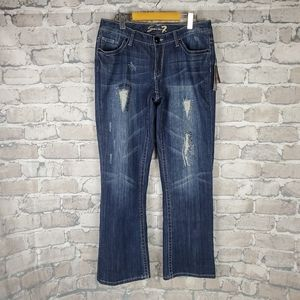 Seven7 Luxe Jeans Sully Blue 14 Stretch Bootcut
